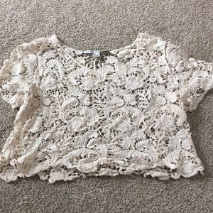 Lace summer crop top